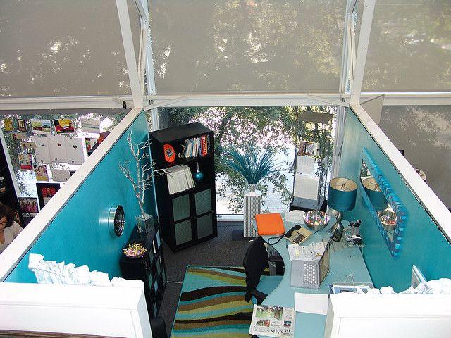 Blue cube ridiculous office decor pinterest