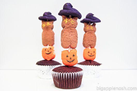 PEEPS Cupcake Kebabs | Hauntingly Delicious Halloween | Pinterest