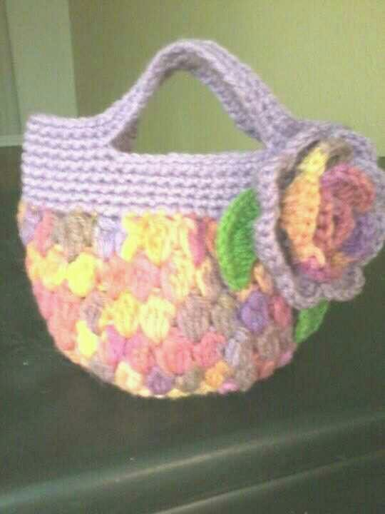 Crochet Bag For Little Girl : Crocheted little girls bag My creative crochet Pinterest