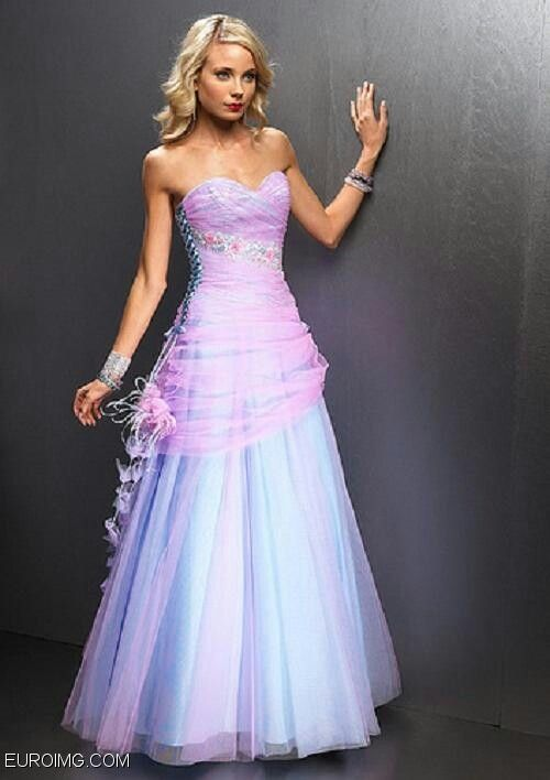 Pink And Blue Prom Dresses different – wodip.com