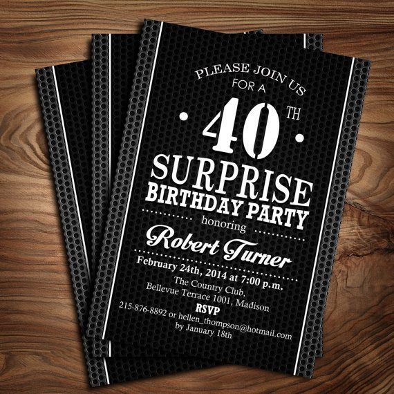 Surprise 40Th Birthday Invitations is an amazing ideas you had to choose for invitation design
