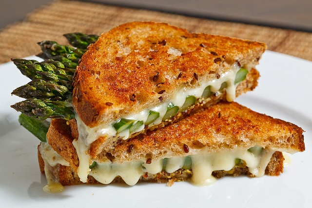 roasted asparagus grilled cheese sandwich.