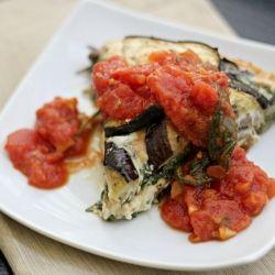 Eggplant and Swiss Chard Tortino