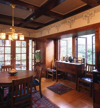 Arts Crafts Style Dining Room Craftsman Style Pinterest
