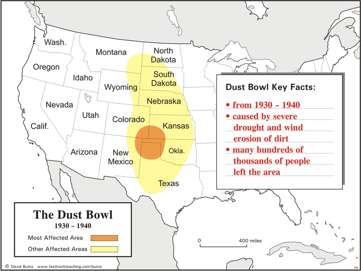 dust bowl map great depression the dust bowl pinterest. Black Bedroom Furniture Sets. Home Design Ideas