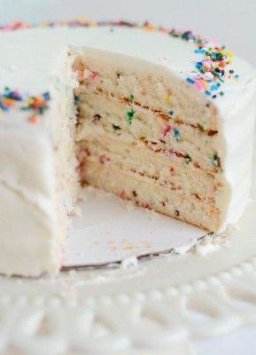 Funfetti Cake From Scratch | Sweets | Pinterest