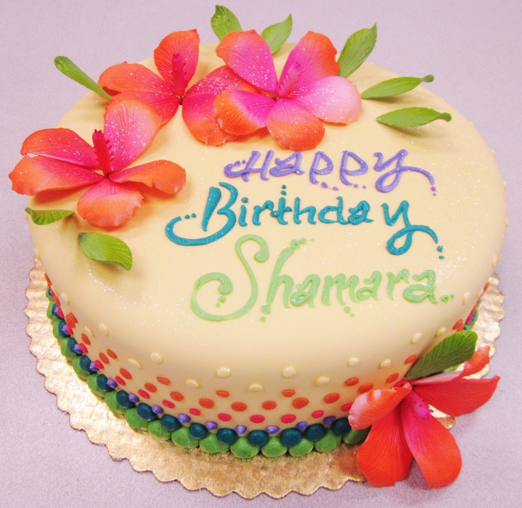 Tropical Flower Fondant Birthday Cake. Cakes By Graham, More Than Just ...