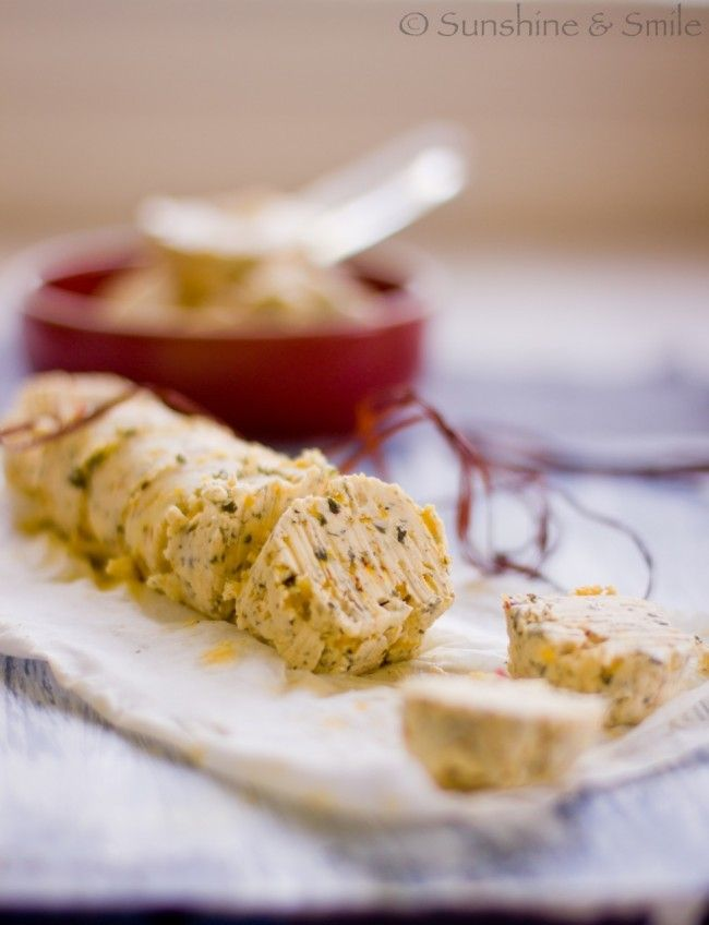 Saffron Compound Butter 3 | breads with butter | Pinterest