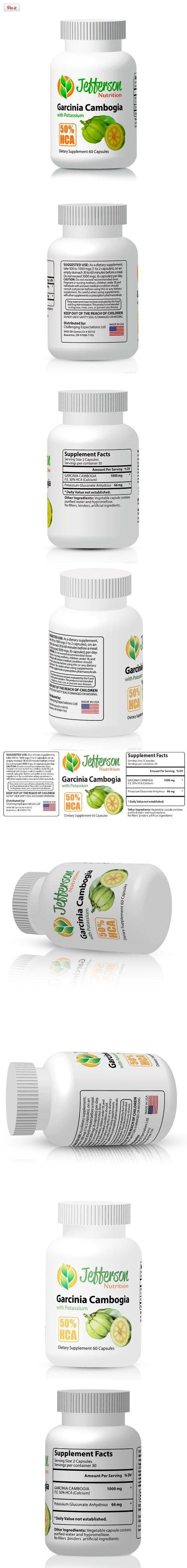 Garcinia Cambogia Extract 50% HCA, added potassium and no binders