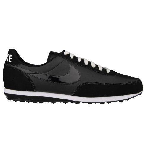 NIKE Elite Leather Mens Trainer Shoe - Black / White, UK 9 Nike