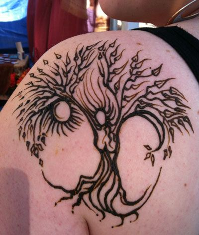 Henna Moon And Sun Henna tree goddess with sunSun And Moon Henna Designs