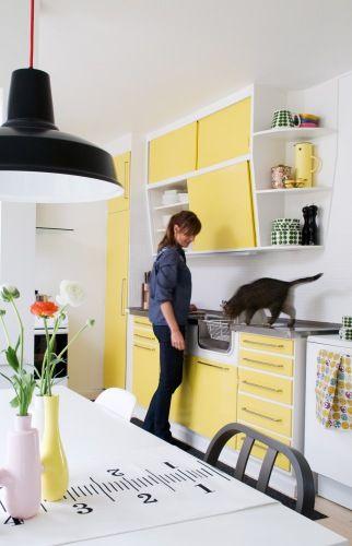 50's yellow kitchen- Love it!