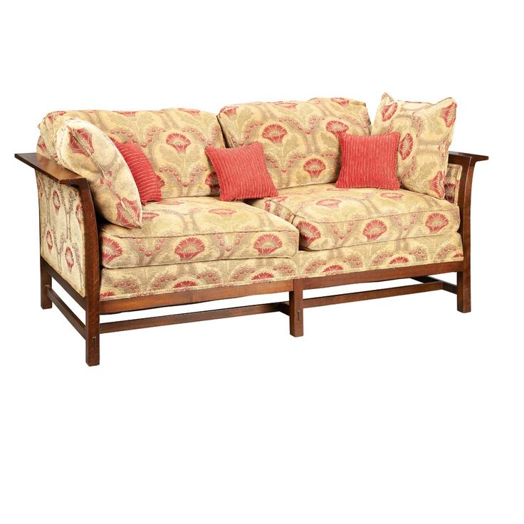 stickley sofa oak and upholstery arts crafts style
