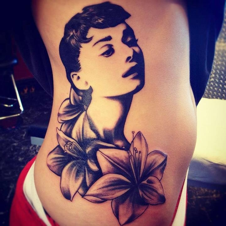 Audrey hepburn tattoo piercings amp tattoos