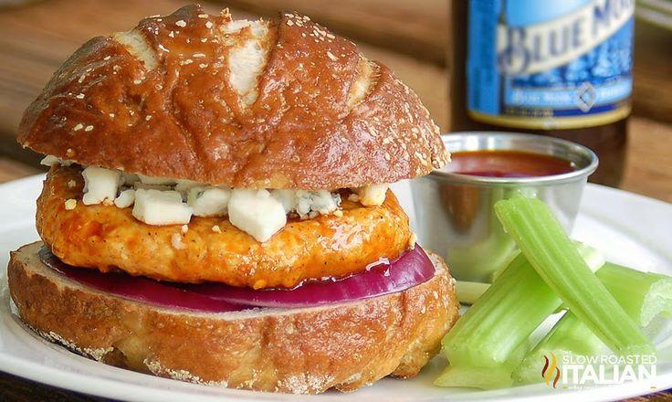 Spicy Buffalo Chicken Burger | Recipes | Pinterest