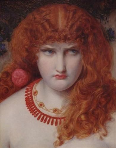 Helen of Troy, oil on canvas, by Anthony Frederick Sandys, British, 1829-1904.