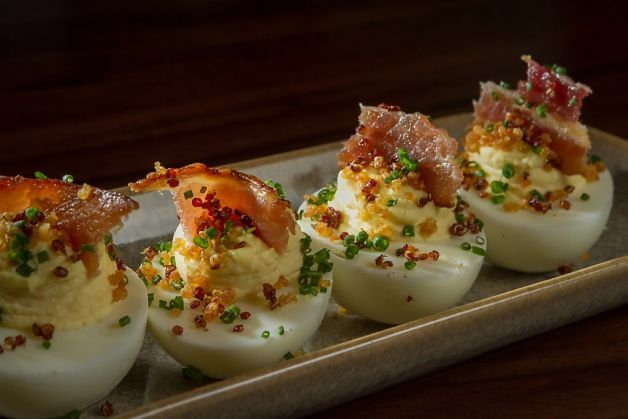 Snacks ($6) like deviled eggs go nicely with any of Fog City's ...
