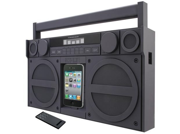 Ip4 speaker boombox per iphone e ipod con radio fm @138 98€