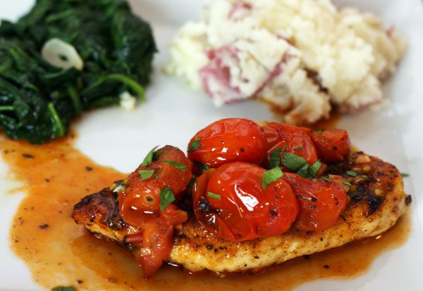 chicken with tomato herb pan sauce MUST MAKE WHEN THE CHERRY TOMATOES ...