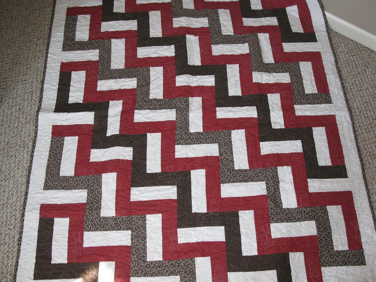 A quilt I made using baby split rail fence pattern Quilts Pinterest