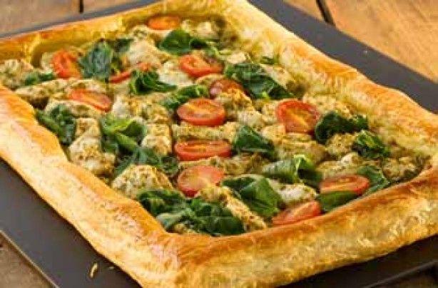 Pesto chicken and cherry tomato tart - I shall make you tomorrow!