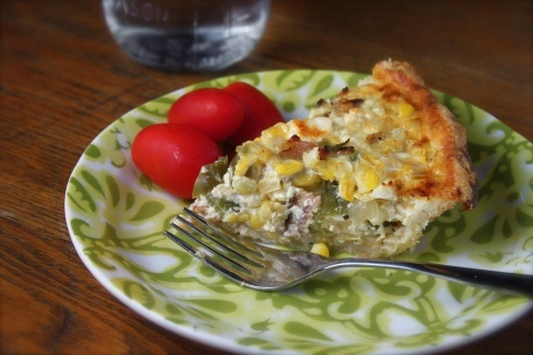 Corn and bacon pie | Cookbook | Pinterest