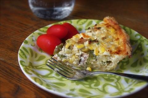 Corn and bacon pie | Cookbook | Pinterest