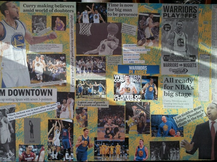my collage poster board golden state warriors
