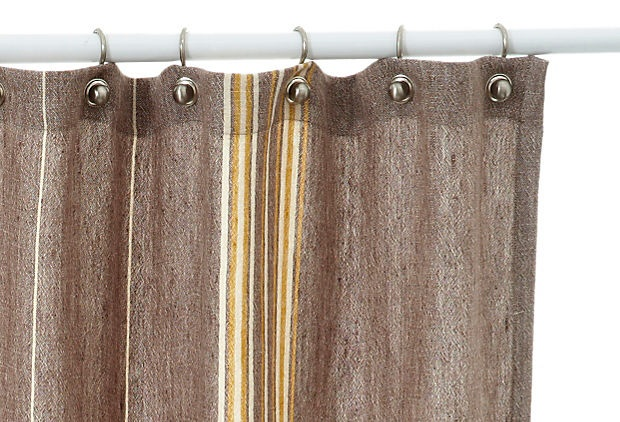 Rustic Linen Shower Curtain Multi