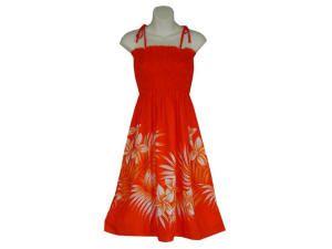 Orange Palm Leaf Hawaiian Sundress $36.95