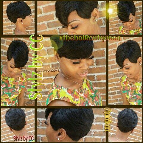 27pc cap weave | Black Women Short Cuts | Pinterest