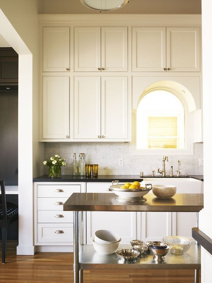 Granite Countertops Through Costco : Kitchen cabinetry, modern, tall cabinets that go all the way to the ...