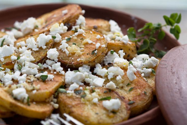 Roasted Greek Potatoes With Feta Cheese And Lemon Recipe — Dishmaps