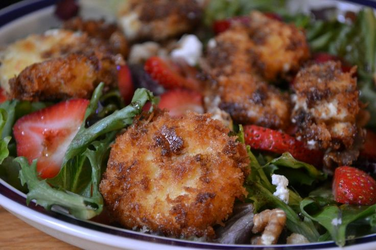 Fried Goat Cheese Salad | Soups & Salads | Pinterest