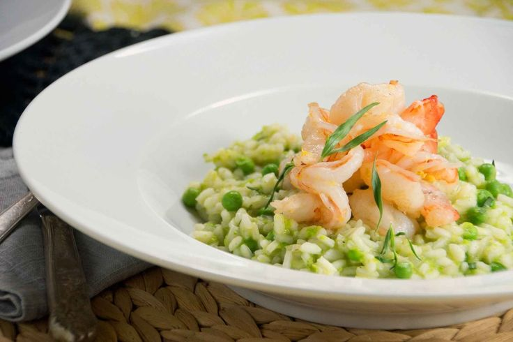 Spring pea risotto with lemony shrimp | Main & Side Dishes | Pinterest