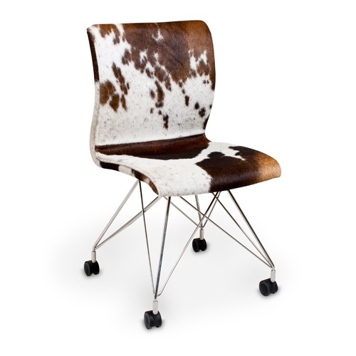 Cowhide Rolling Chair Cowhide Amp Leather Pinterest