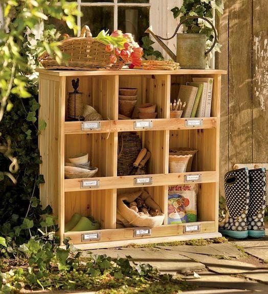Outdoor storage solutions good ideas pinterest for Garden storage solutions