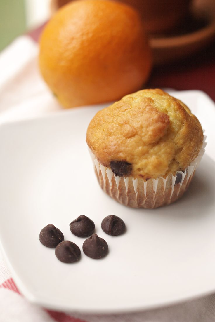 Orange chocolate chip muffins | Brunch recipes | Pinterest