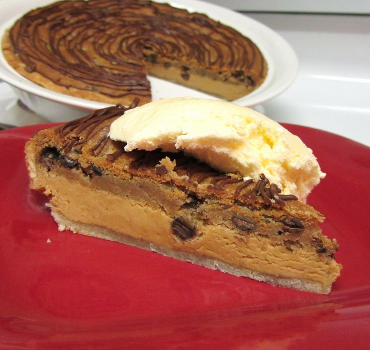 Chocolate Chip-Peanut Butter Layer Pie