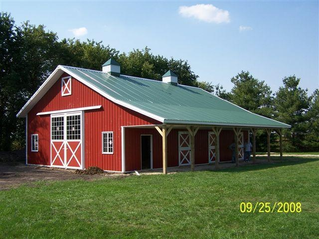 Oooh might work ranch barns stables etc pinterest for Red metal barn