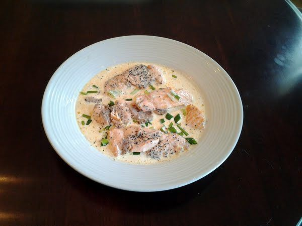 """Salmon cutlets with lemon chive cream sauce! 5.00 stars, 3 reviews. """"A ..."""