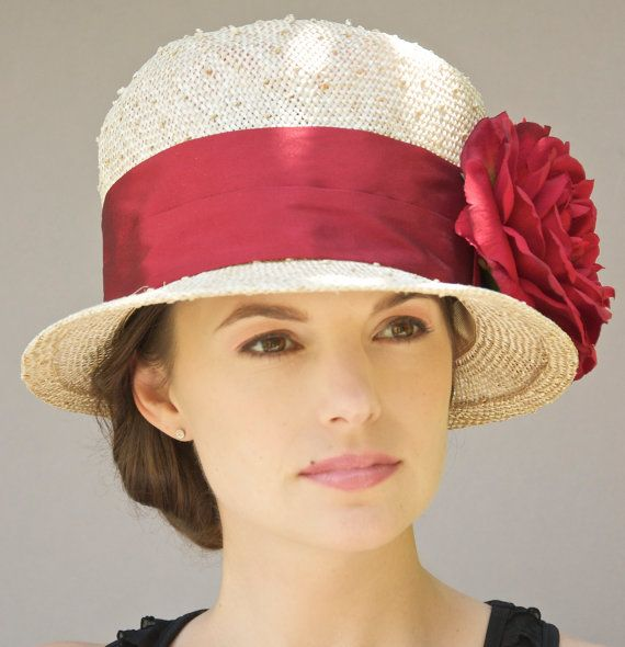 kentucky derby hat womens straw cloche hat