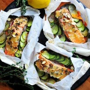 Poached Salmon Pouches | Recipe