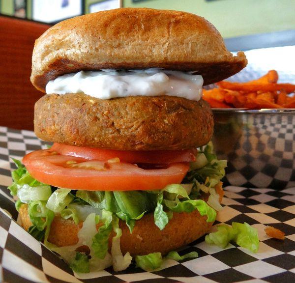 Edamame cashew burger - Bad Daddy's Burger Bar, Charlotte, N.C ...