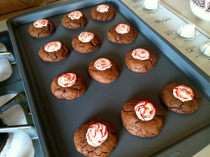 Dark chocolate peppermint swirl cookies | yummy yummy | Pinterest
