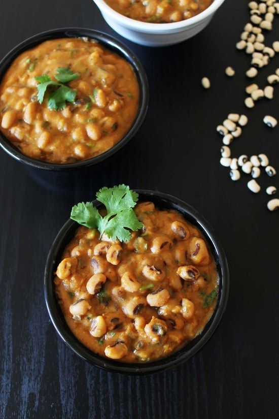 Black eyed peas Curry - Gujarati style | Foodiee | Pinterest