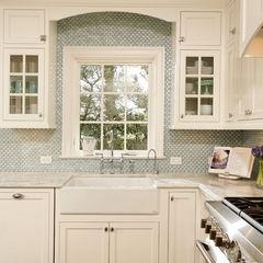 backsplash around window lovely kitchens pinterest