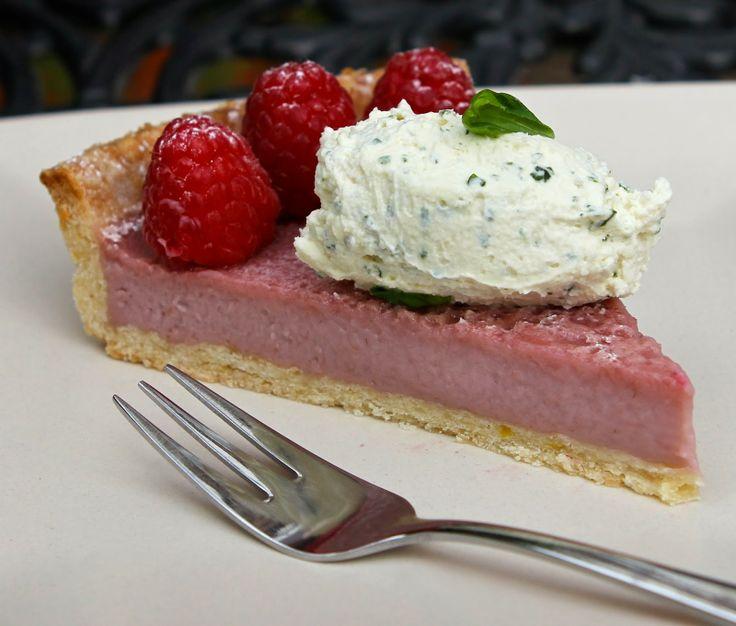 raspberry cream tart with basil cream | gluten free alchemist - the b ...