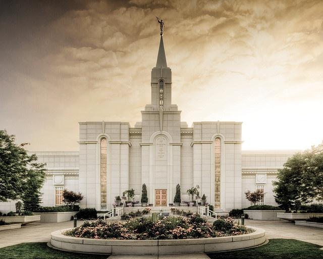 Bountiful Utah Temple Wedding
