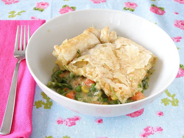 Creamy Vegetable Pot Pie | Veggie and Vegan Main Course | Pinterest